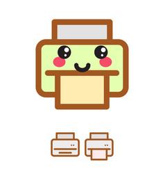 Printer kawaii icon vector