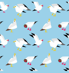 seagulls flying in the sky vector image vector image