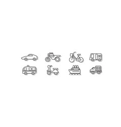 simple transportation vector image vector image