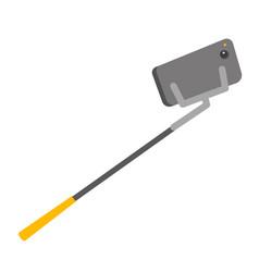 smartphone on selfie stick vector image vector image