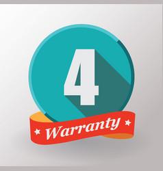 4 warranty label vector