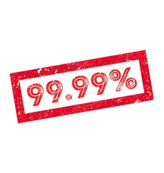 9999 percent rubber stamp vector image