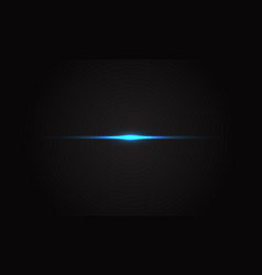 abstract blue light flare effect on black vector image