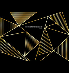 abstract luxury gold polygonal pattern on black vector image