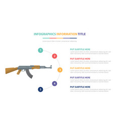Ak-47 riffle infographic template concept vector