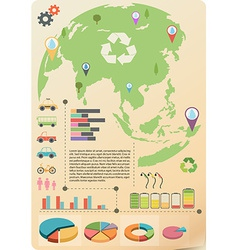 An infographics of the Earth vector image