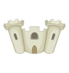 Ancient castle icon cartoon style vector image
