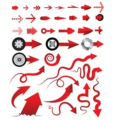 Arrows collection multiple style can vector image