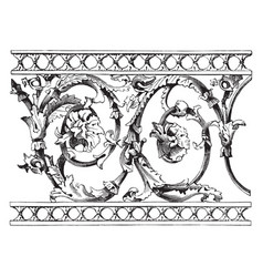 Balustrade moulded vintage engraving vector