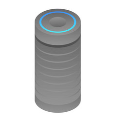 Bass smart speaker icon isometric style vector