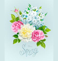 beautiful spring bouquet vector image