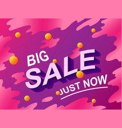 Big sale text discount shopping concept vector