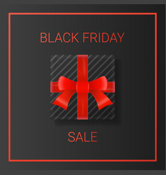 black friday sale background with gift box and vector image