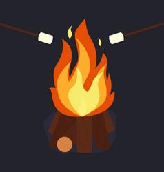Bonfire and burning vector