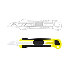 Box cutter knife vector