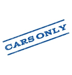 Cars Only Watermark Stamp vector image