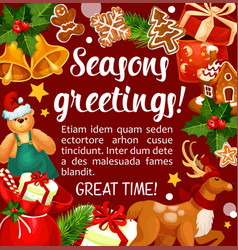 Christmas winter holiday season greetings vector