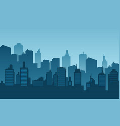 City background daylight with building vector