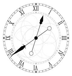 clock circle black vector image