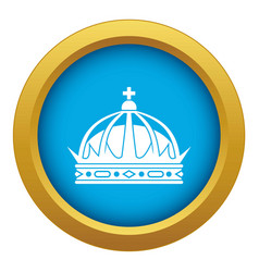 crown icon blue isolated vector image