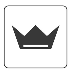 Crown icon flat sign vector