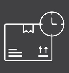 delivery time line icon logistic and delivery vector image