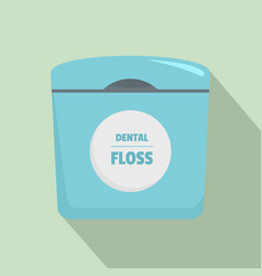 dental floss box icon flat style vector image