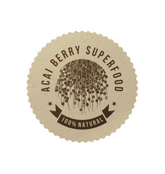 Eco emblem with type design and acai berries vector