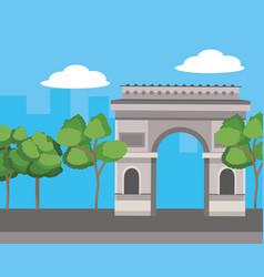 Europe travel monument vector