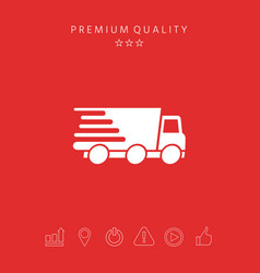 express delivery icon delivery car vector image