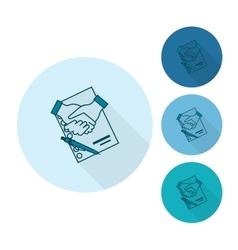 Financial Agreement Handshake vector image