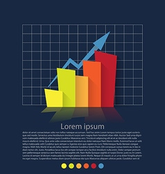 Flat design chart vector image