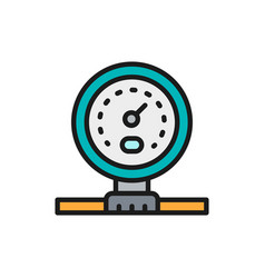 Gas pipeline or water meter flat color line icon vector