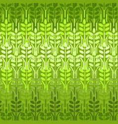 Green wheat seamless pattern spring vector