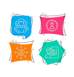 Group headhunting and networking icons job vector