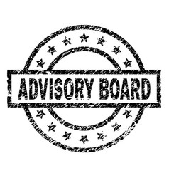 Grunge textured advisory board stamp seal vector