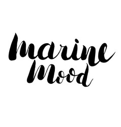 hand drawn lettering - marine mood vector image
