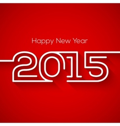Happy new year 2015 greeting card design vector image