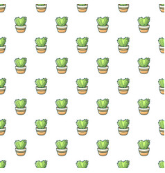 Heart cactus pattern seamless vector