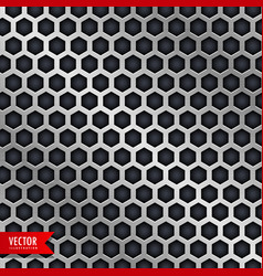Honeycomb pattern design in metallic style vector