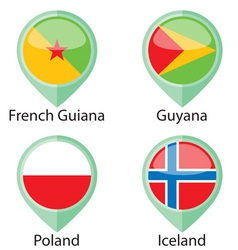 International Flags Pointer Sample vector