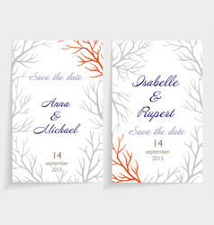 invitation card set vector image vector image