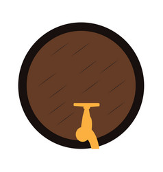 Isolated beer barrel vector