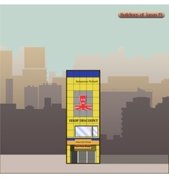 Japan Building in Tokyo vector