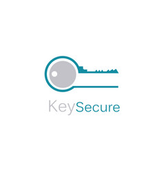 key secure logo vector image