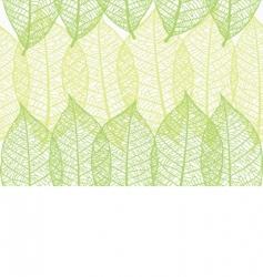 leaves wallpaper vector image
