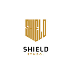 letter guard shield logo design vector image