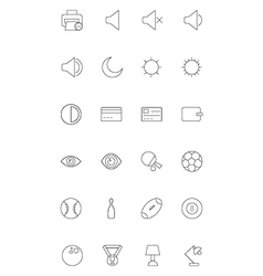 Line icons 7 vector