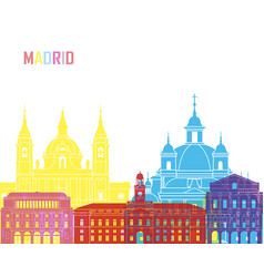 Madrid v2 skyline pop vector