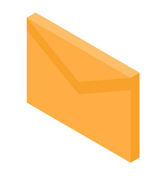 Mail letter icon isometric style vector